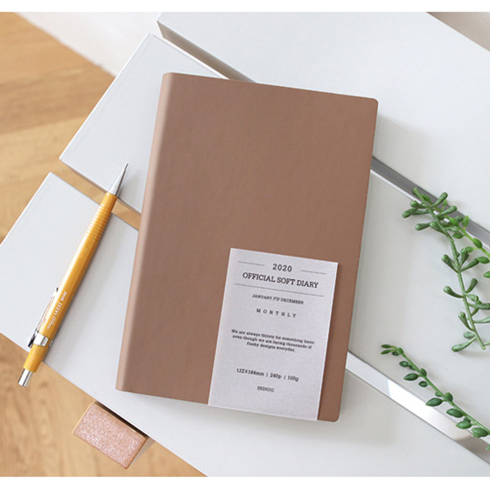 Mocha - Indigo 2020 Official soft dated weekly planner notebook