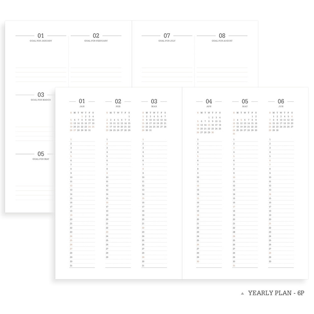 Yearly plan - 2020 Official soft dated weekly planner notebook