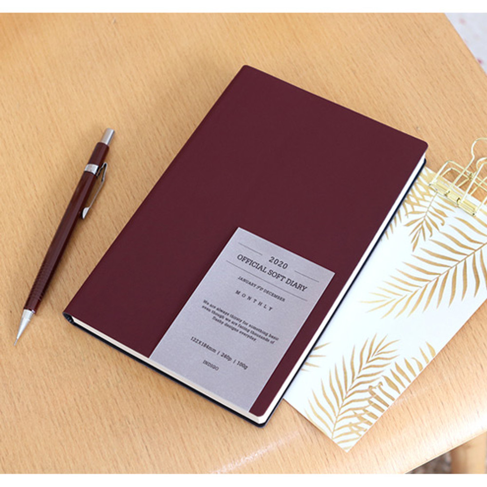 Wine - Indigo 2020 Official soft dated weekly planner notebook