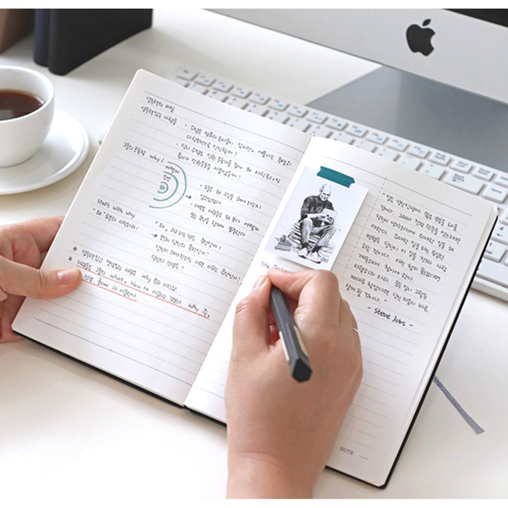 Lined note - Indigo 2020 Official soft dated weekly planner notebook