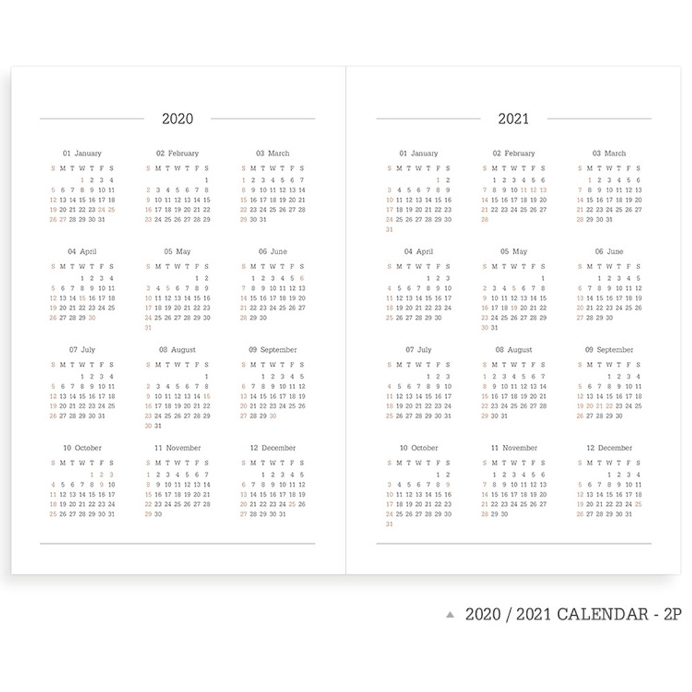 Calendar - Indigo 2020 Official soft dated weekly planner notebook
