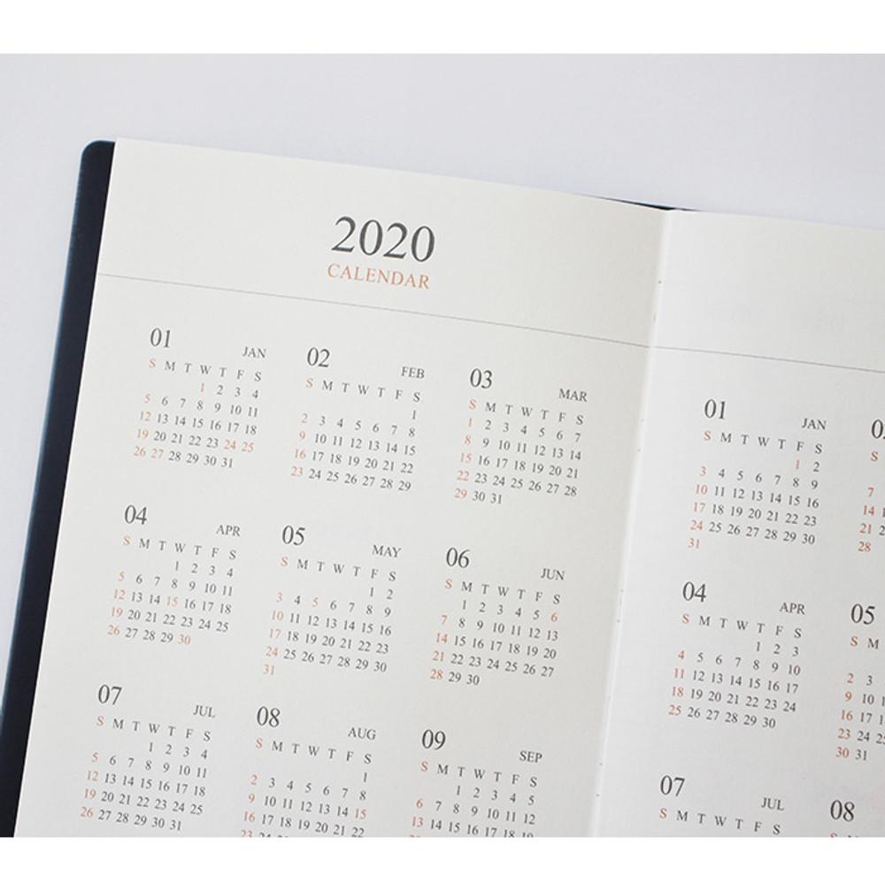 Calendar - Indigo Official slim dateless weekly planner notebook