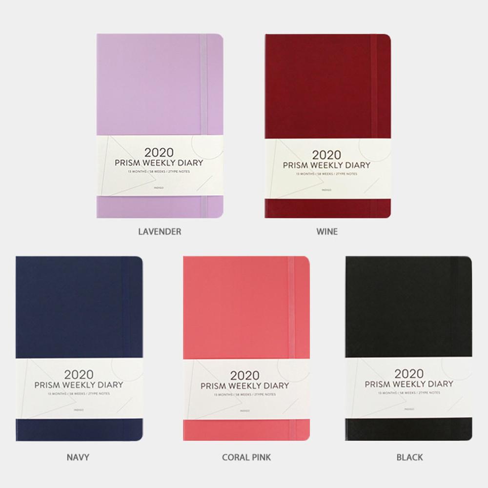 Color - Indigo 2020 Prism dated weekly planner notebook