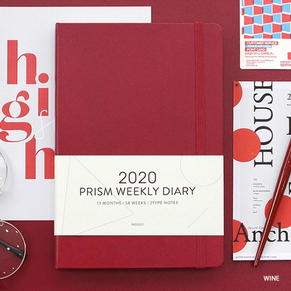 Wine - Indigo 2020 Prism dated weekly planner notebook