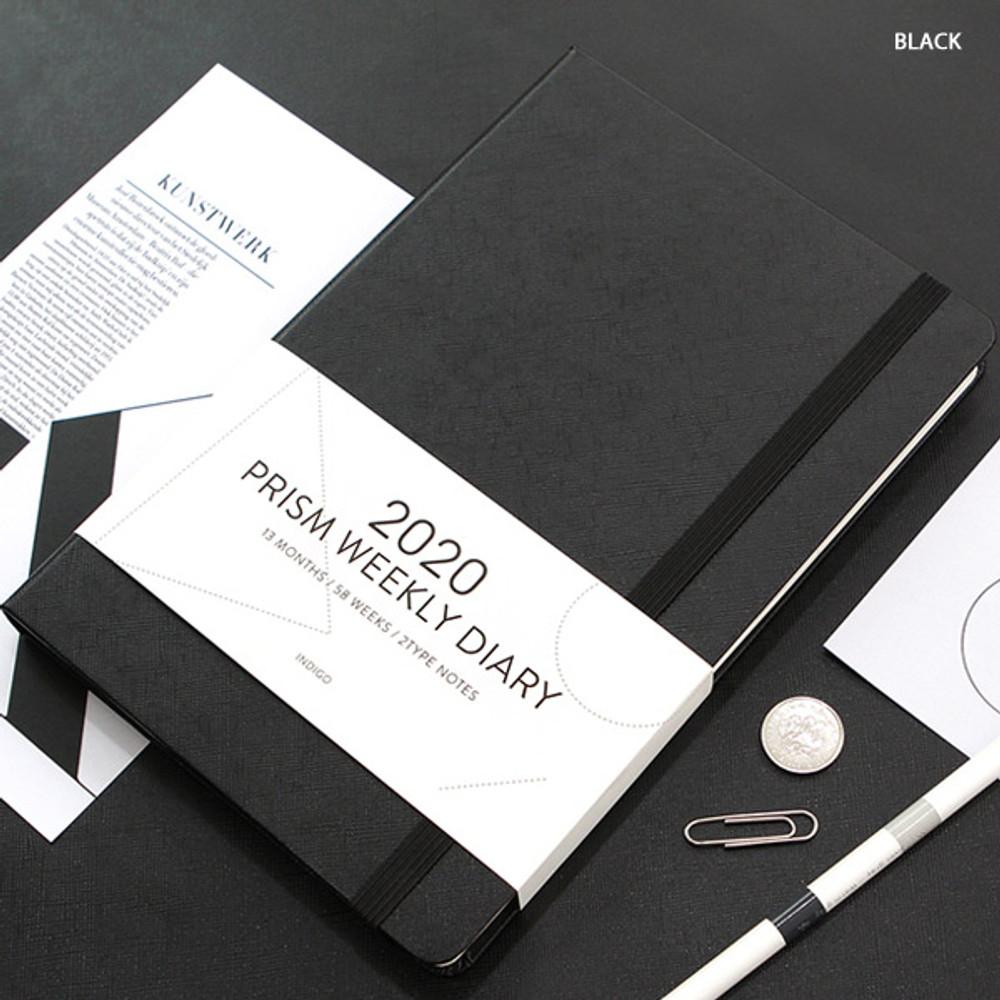Black - Indigo 2020 Prism dated weekly planner notebook
