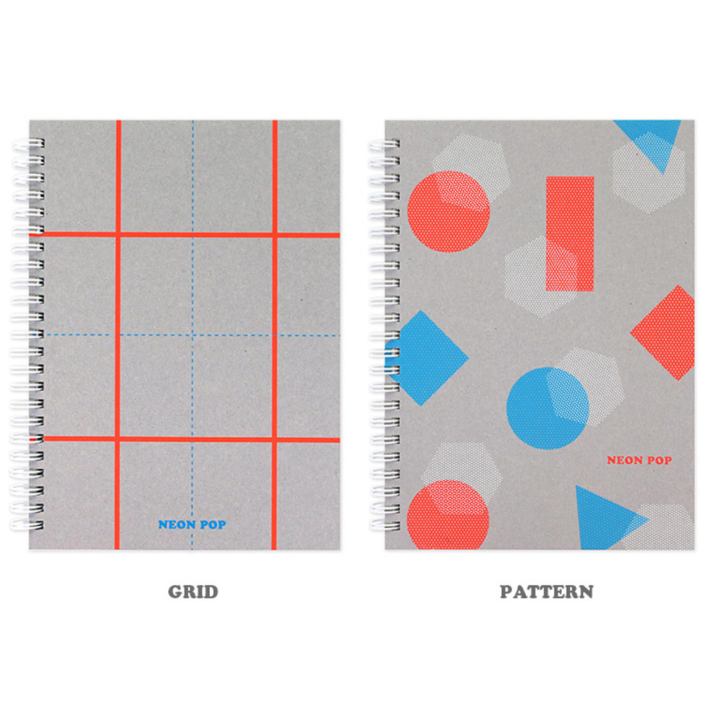 Option - Indigo Neon pop spiral bound dateless weekly planner