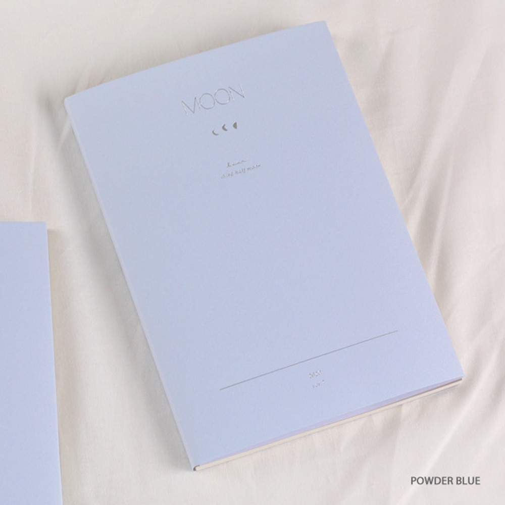 Powder blue - Dash and Dot 2020 Moon large dated weekly diary ver7