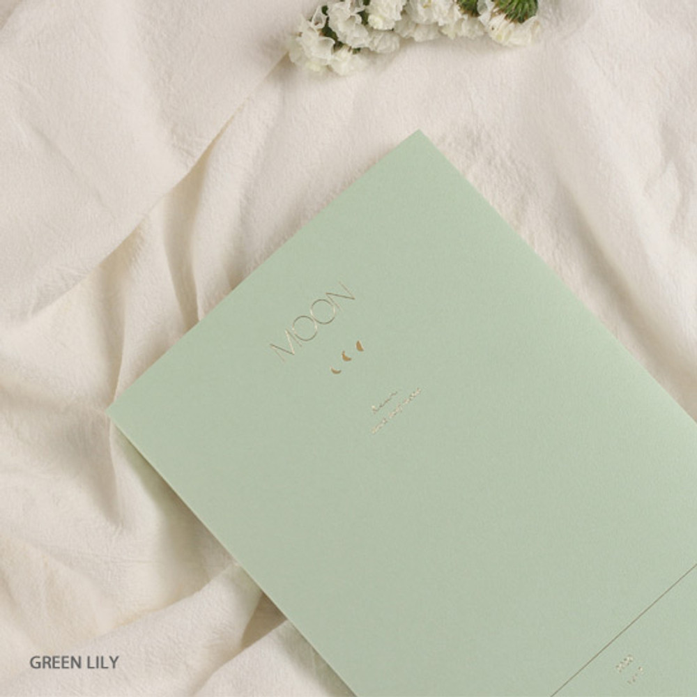 Green lily - Dash and Dot 2020 Moon large dated weekly diary ver7