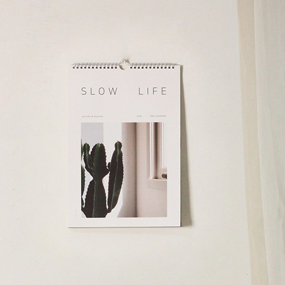 Dash and Dot 2020 Slow life monthly wall calendar