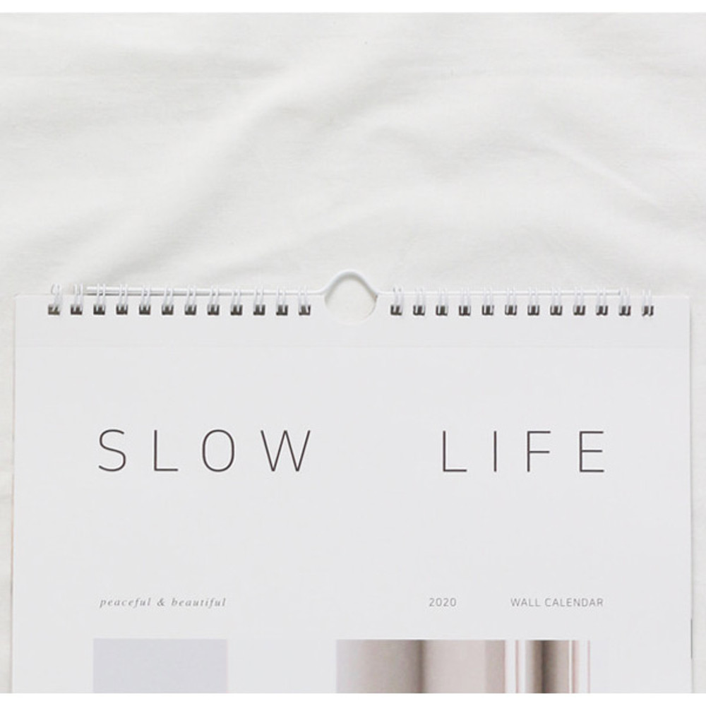 Top loop - Dash and Dot 2020 Slow life monthly wall calendar
