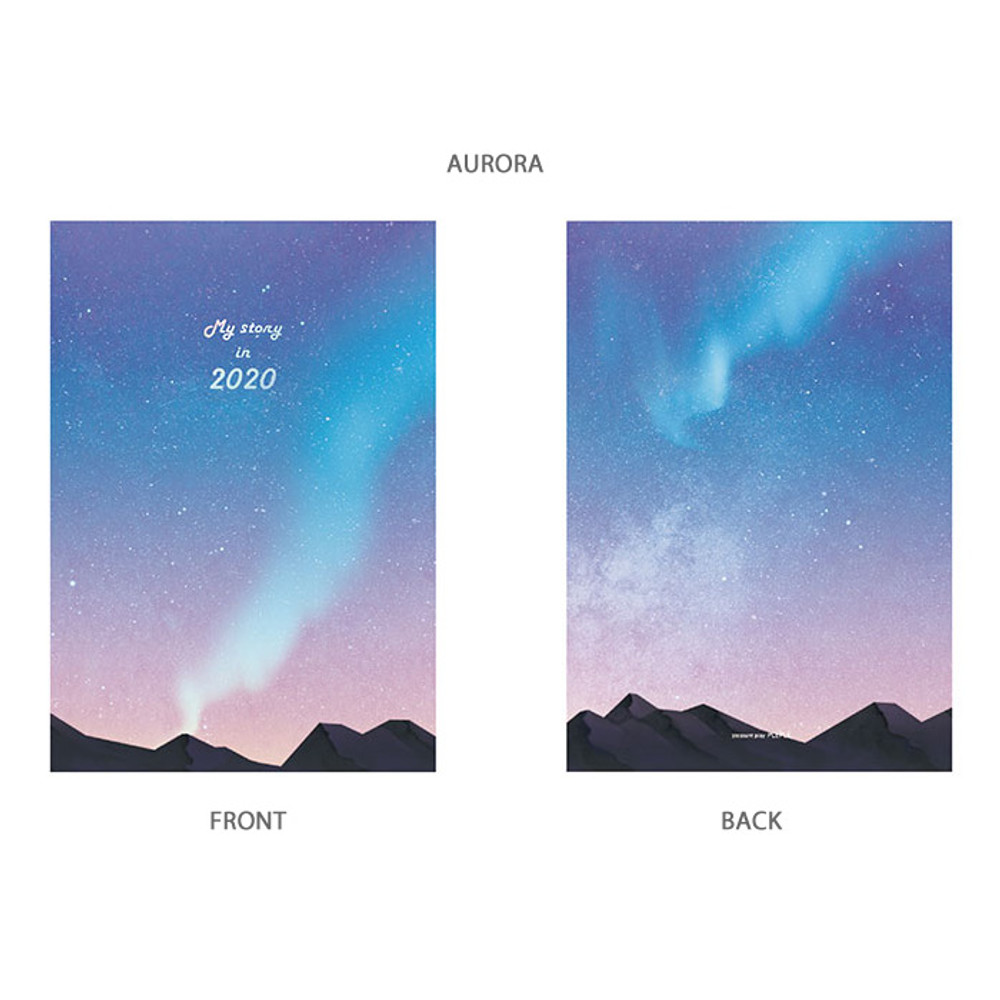 Aurora - PLEPLE 2020 My story illustration dated weekly diary ver5