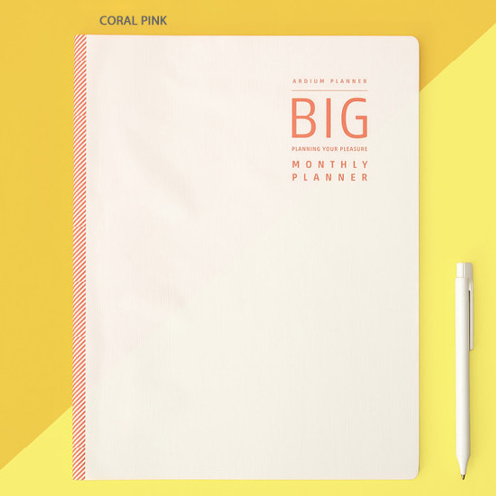 Coral pink - Ardium 2020 Big dated monthly planner scheduler