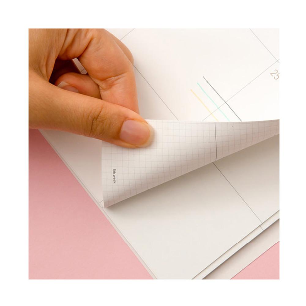 120gsm paper - Ardium 2020 dated monthly planner scheduler