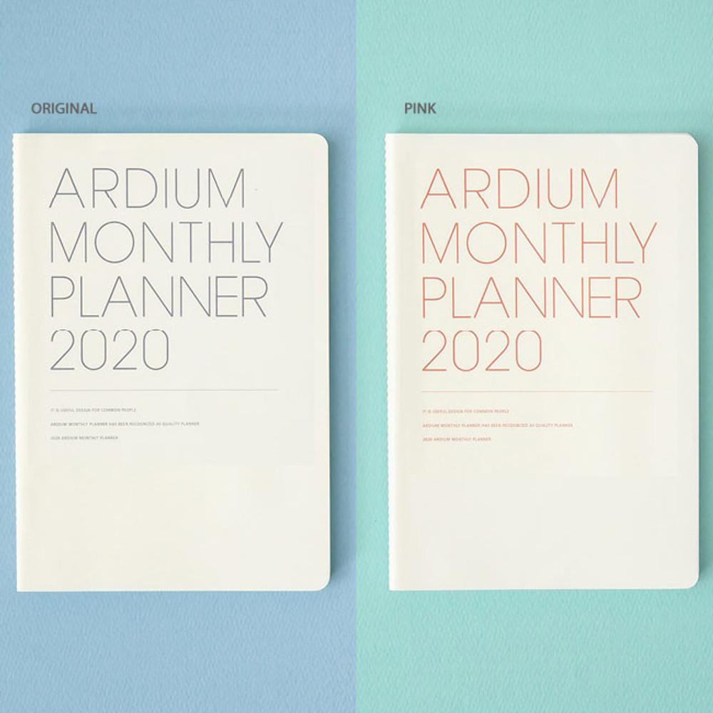 Original, Pink - Ardium 2020 dated monthly planner scheduler