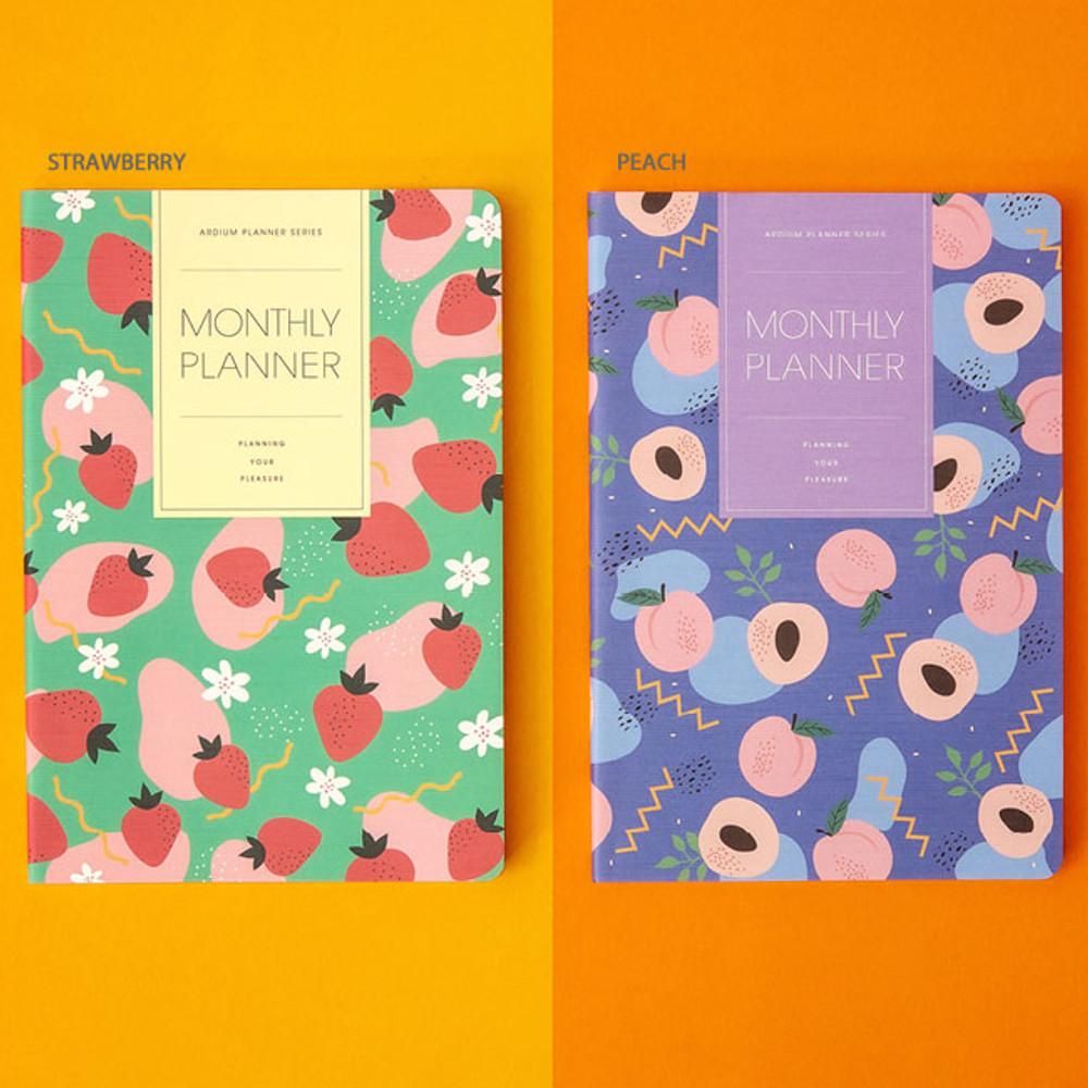 Strawberry, Peach - Ardium 2020 dated monthly planner scheduler