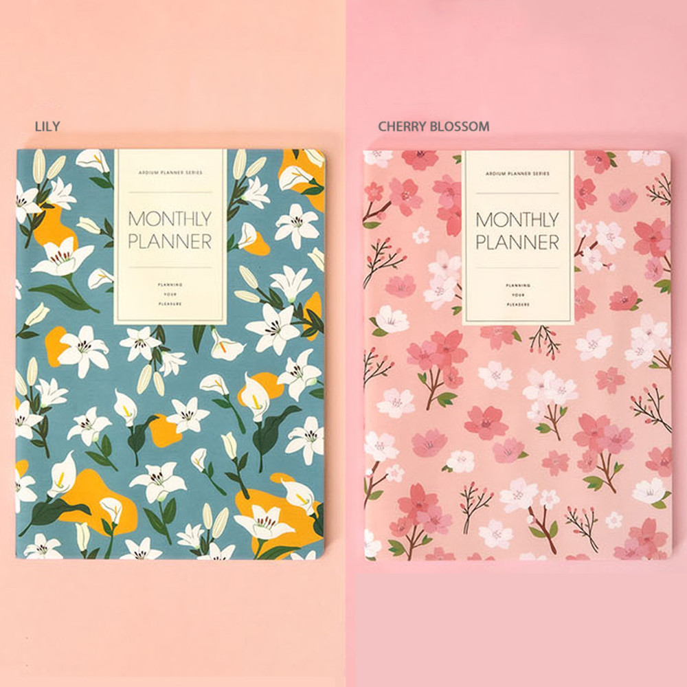 lily, Cherry blossom - Ardium 2020 large dated monthly planner scheduler
