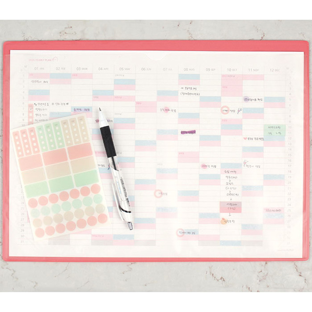 Usage example - PLEPLE 2020 Desk mat with dated monthly planner