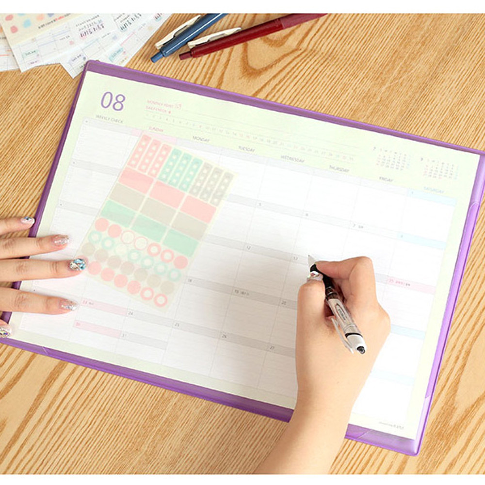 PLEPLE 2020 Desk mat with dated monthly planner