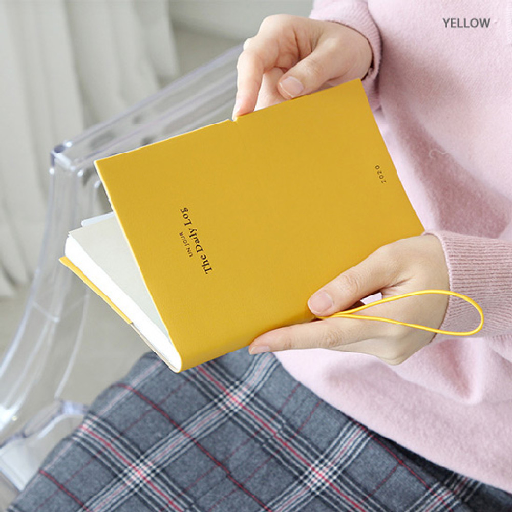 Yellow - GMZ 2020 The daily log medium dated weekly diary planner