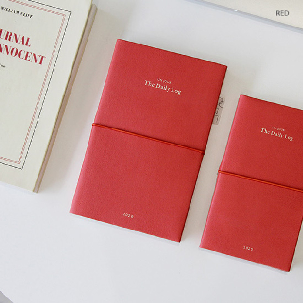 Red - GMZ 2020 The daily log medium dated weekly diary planner