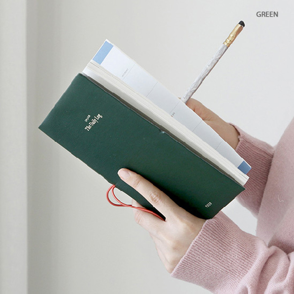 Green - GMZ 2020 The daily log medium dated weekly diary planner