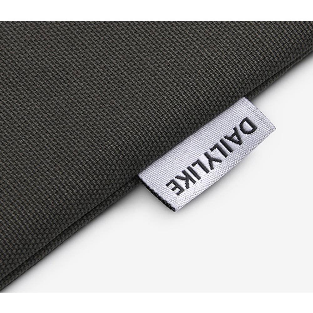 Tag - Dailylike Embroidery rectangle fabric zipper pouch - Hula hoop bear