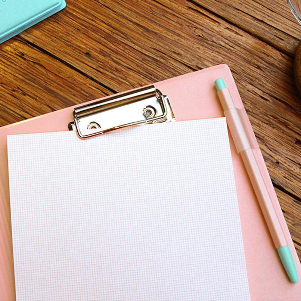 Pen holder - PLEPLE Memo days A5 size foldover clipboard set