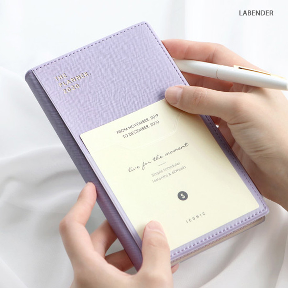 Lavender - ICONIC 2020 Simple small dated weekly planner scheduler