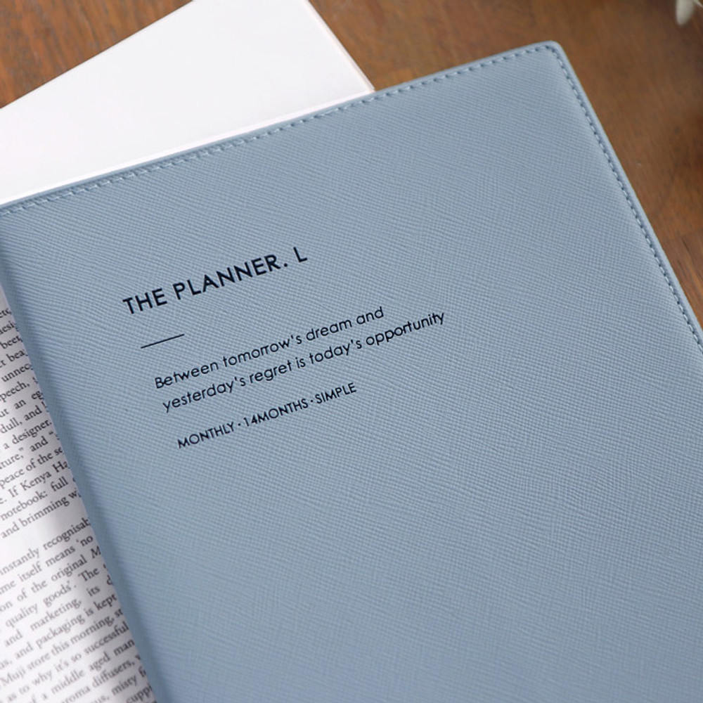 Simple PU cover - ICONIC 2020 Simple large dated monthly planner scheduler