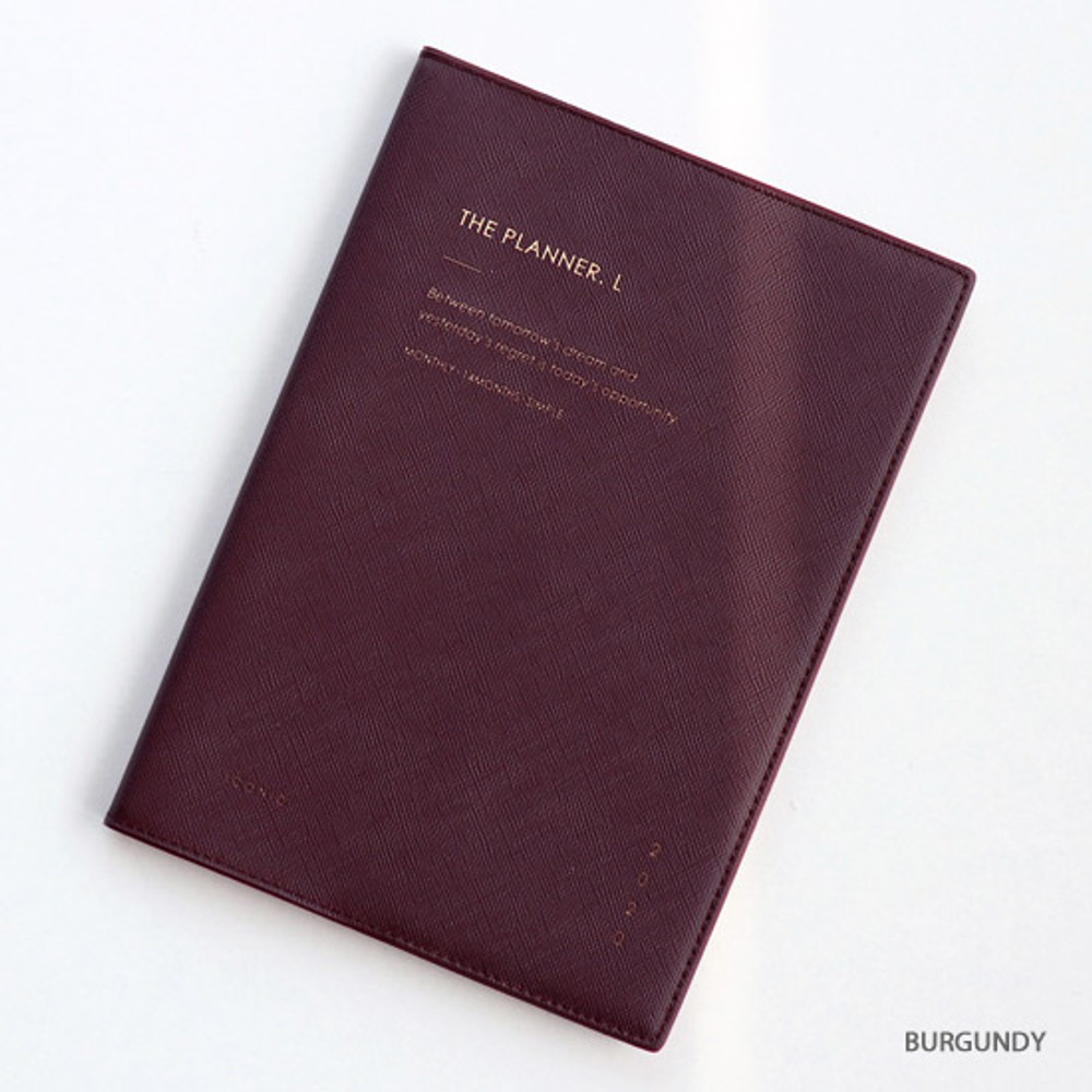 Burgundy - ICONIC 2020 Simple large dated monthly planner scheduler