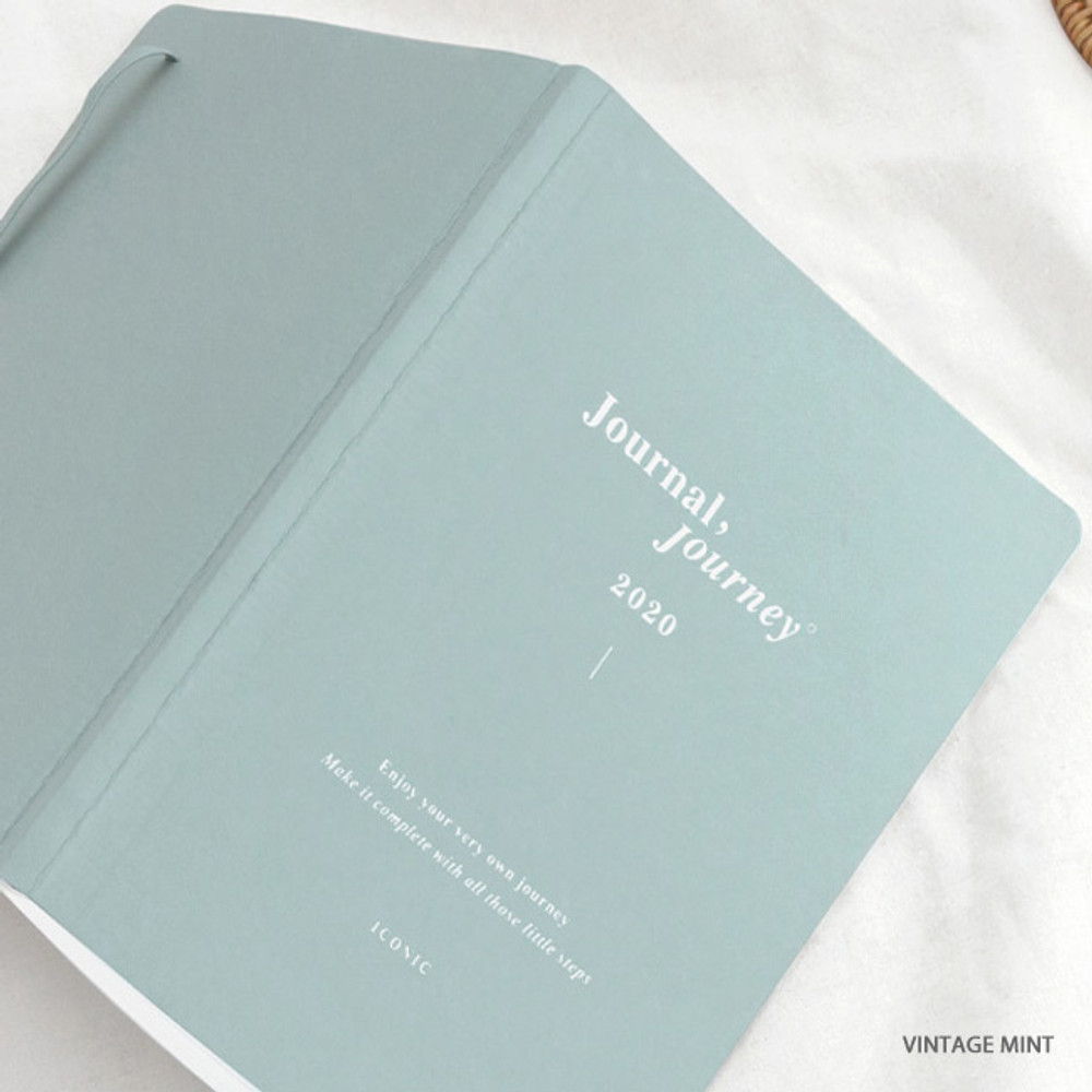 Vintage mint - ICONIC 2020 Journal Journey dated weekly planner scheduler