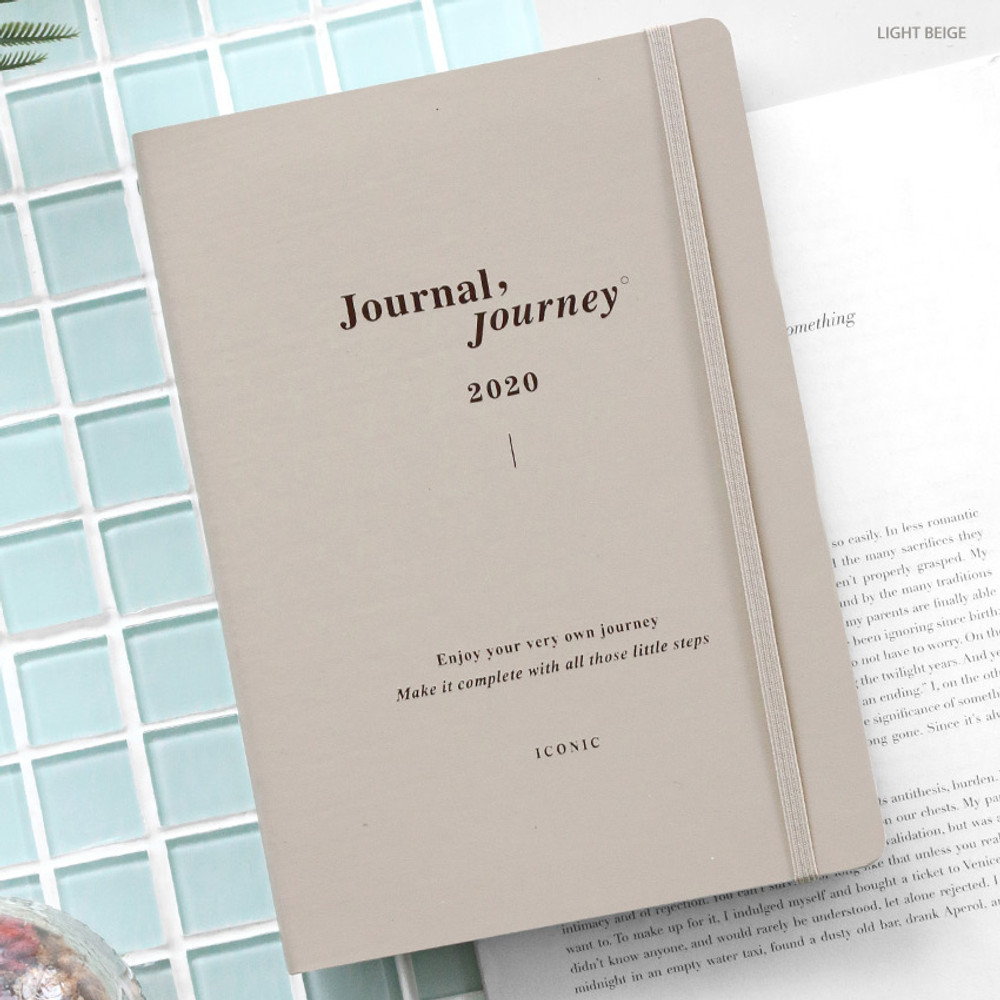 Light beige - ICONIC 2020 Journal Journey dated weekly planner scheduler