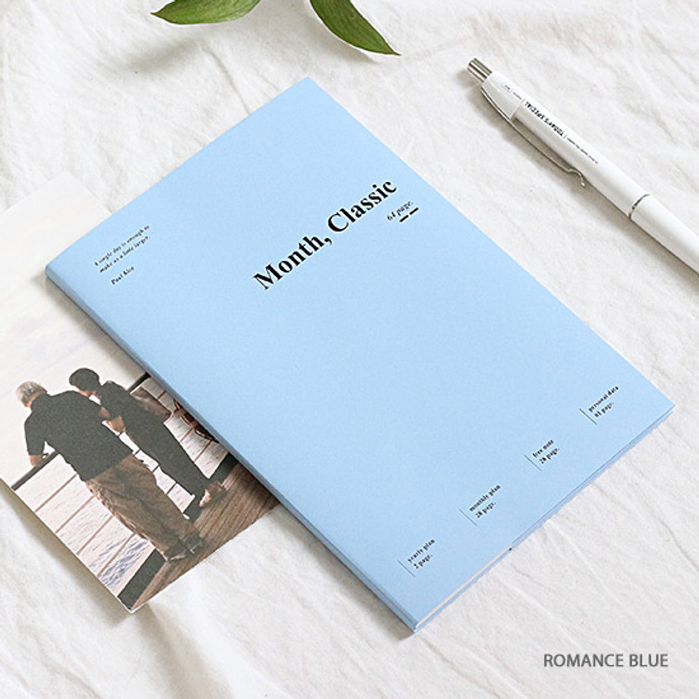 Romance blue - Wanna This 2020 Month classic small dated monthly planner