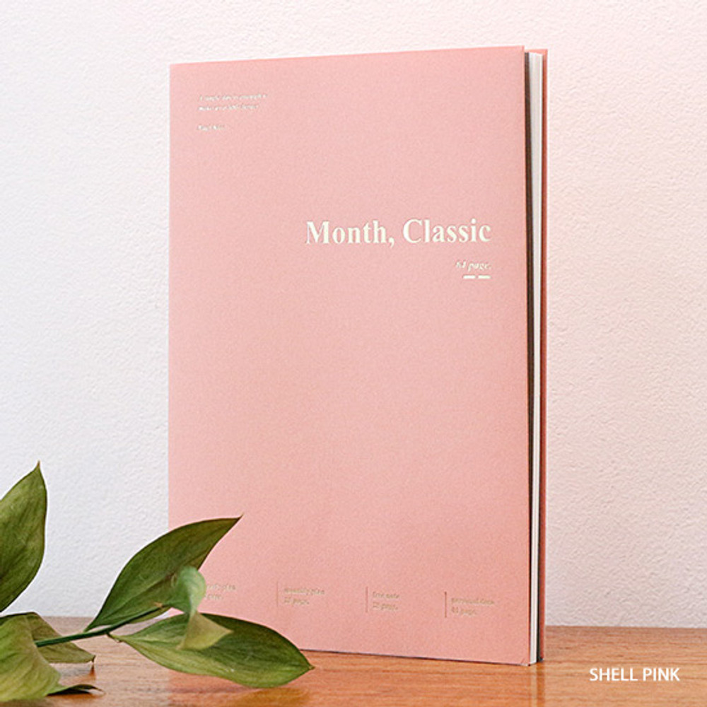 Shell pink - Wanna This 2020 Month classic small dated monthly planner