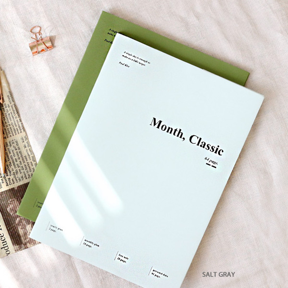 Salt gray - Wanna This 2020 Month classic large dated monthly planner