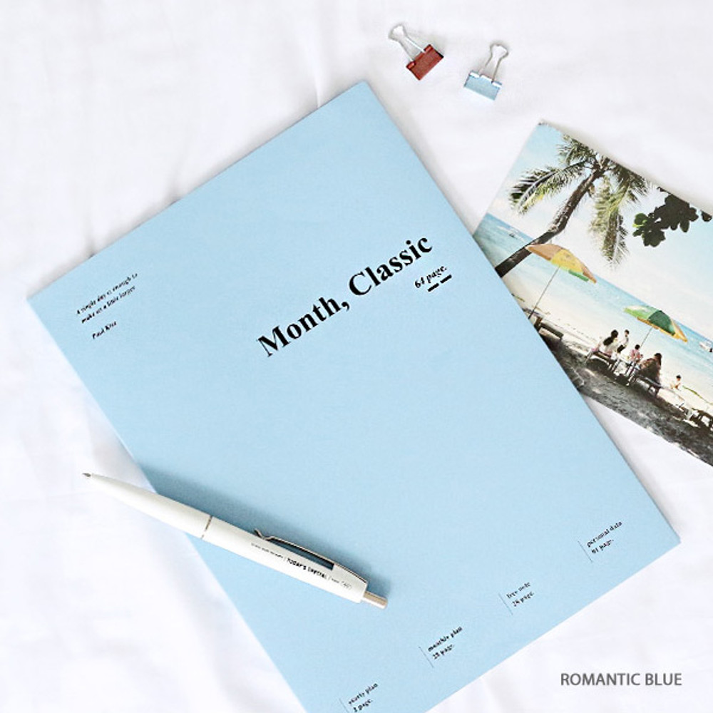Romance blue - Wanna This 2020 Month classic large dated monthly planner