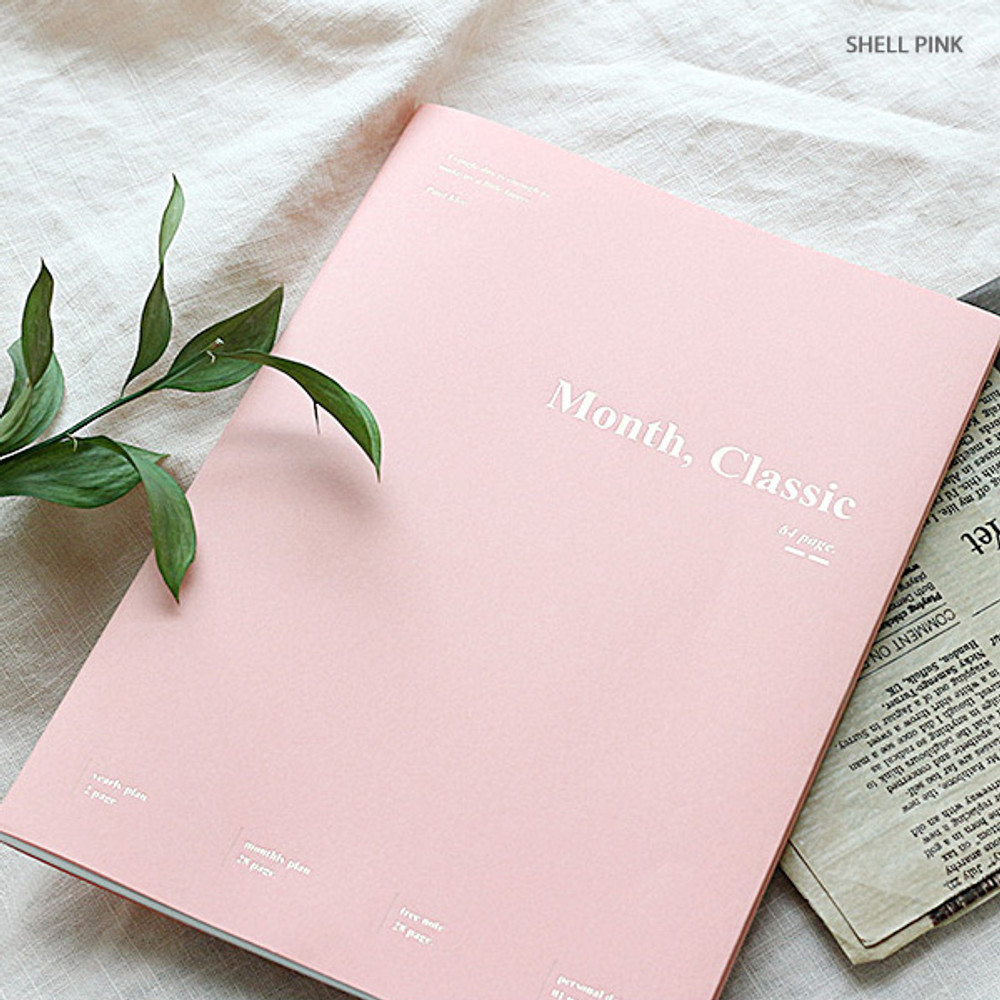 Shell pink - Wanna This 2020 Month classic large dated monthly planner