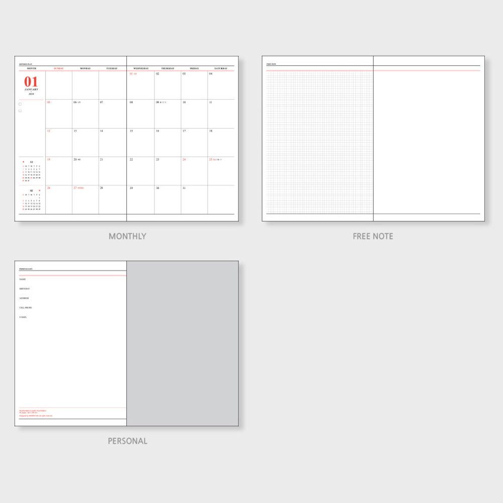 Planner sections - Wanna This 2020 Month classic large dated monthly planner