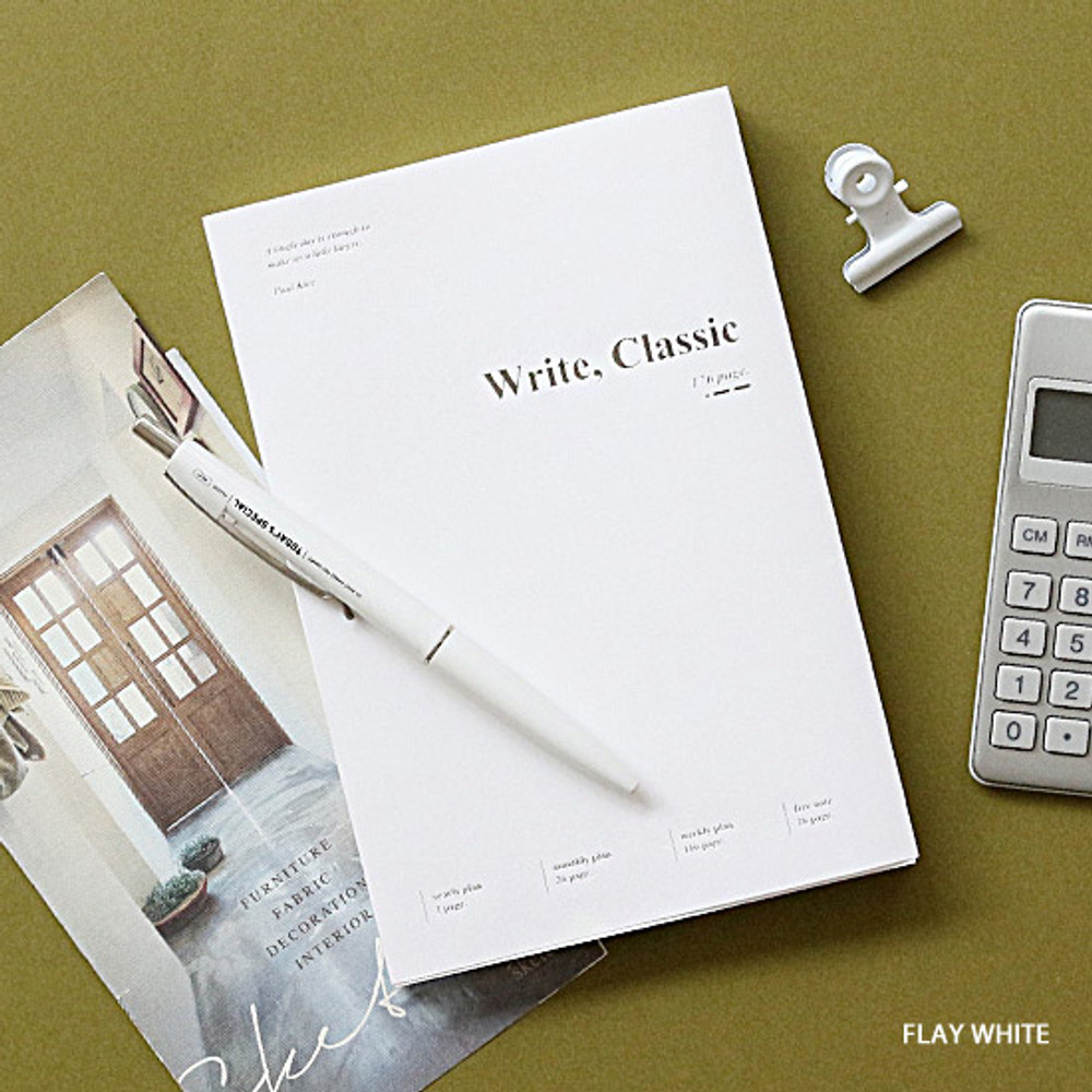 Flat white - Wanna This 2020 Write classic dated weekly planner scheduler