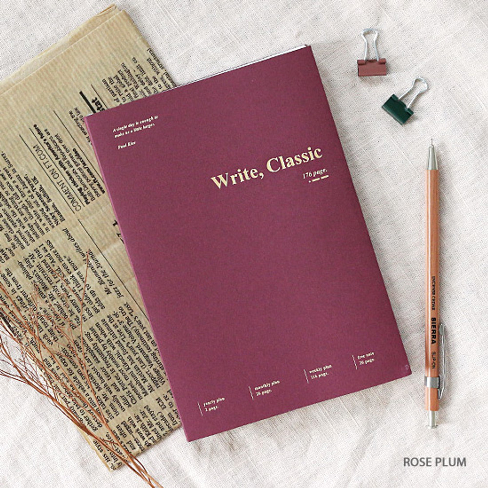 Rose plum - Wanna This 2020 Write classic dated weekly planner scheduler