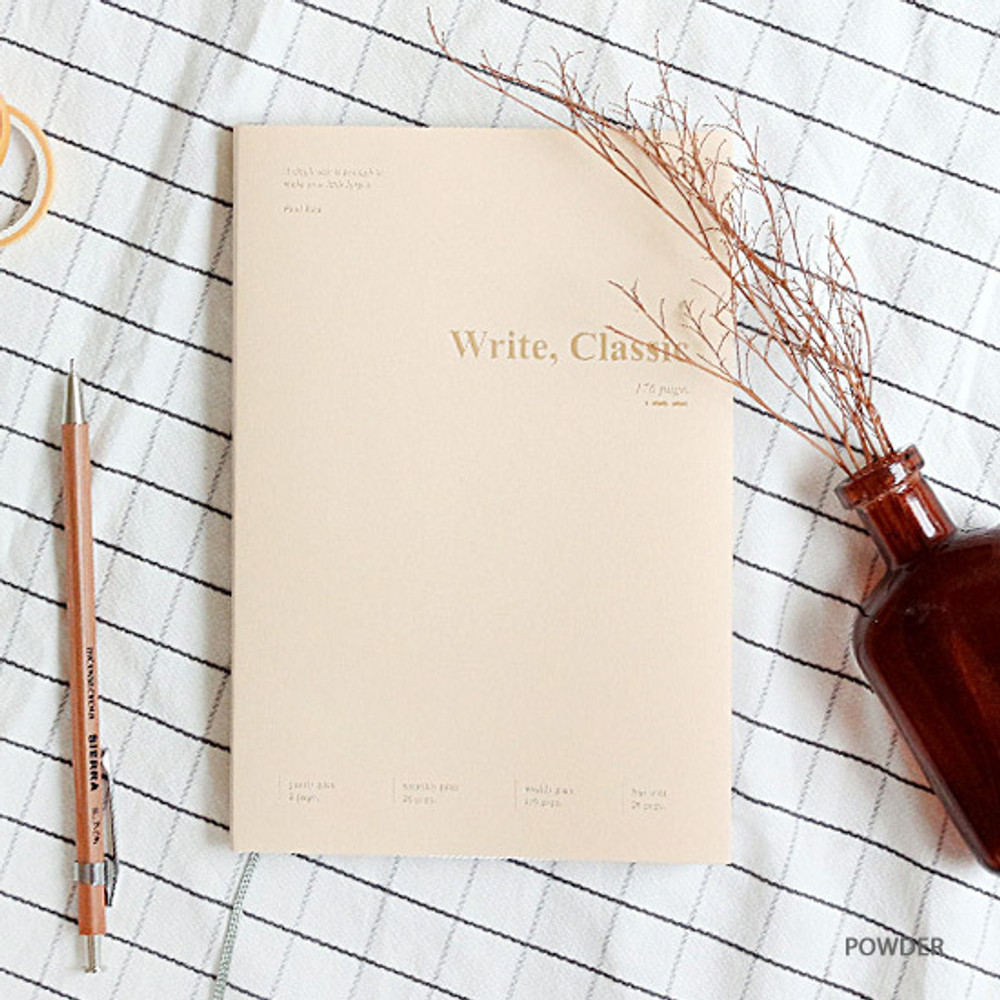 Powder - Wanna This 2020 Write classic dated weekly planner scheduler