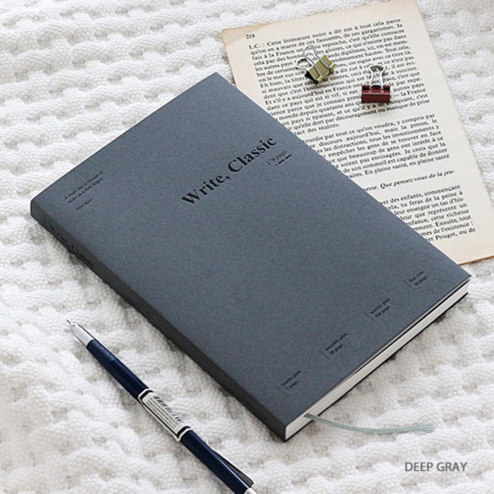 Deep gray - Wanna This 2020 Write classic dated weekly planner scheduler