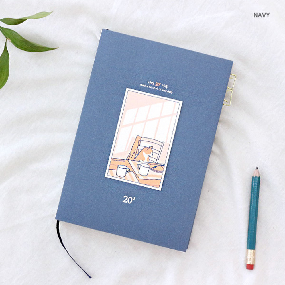 Navy - Wanna This My 20 illustration dated weekly diary agenda