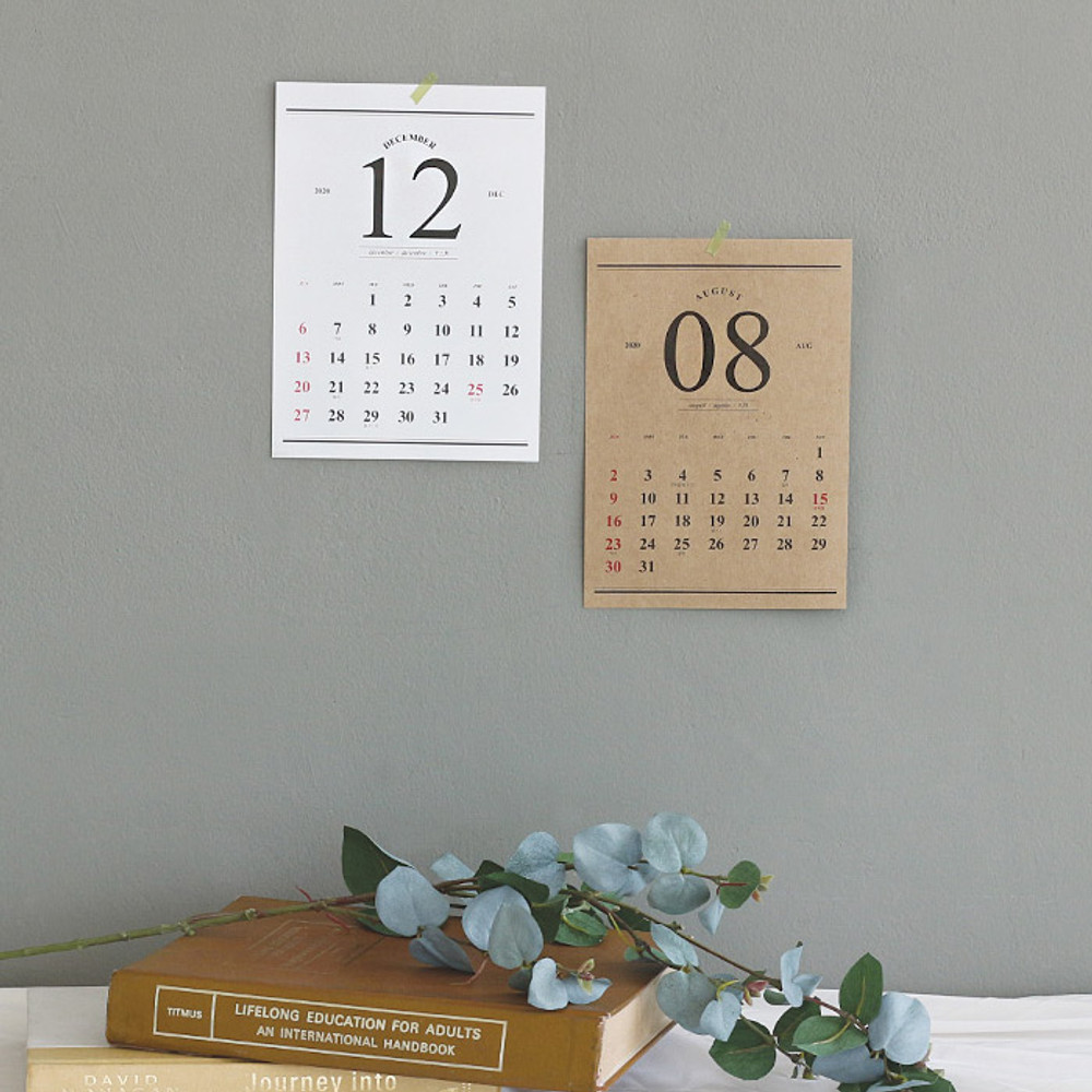 Usage example - Wanna This 2020 Classic monthly calendar sheets
