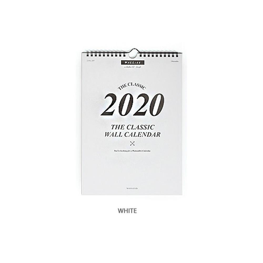 White - Wanna This 2020 Classic spiral bound wall calendar