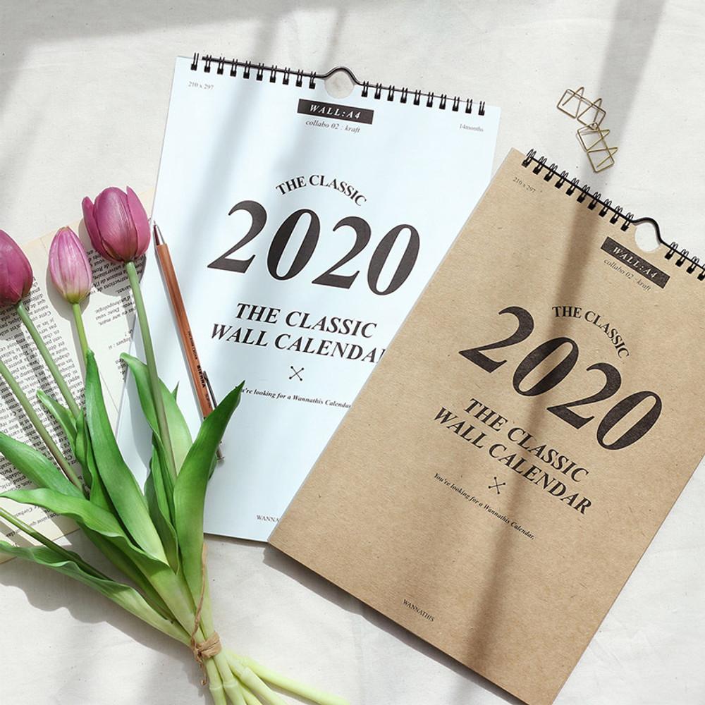 Wanna This 2020 Classic spiral bound wall calendar