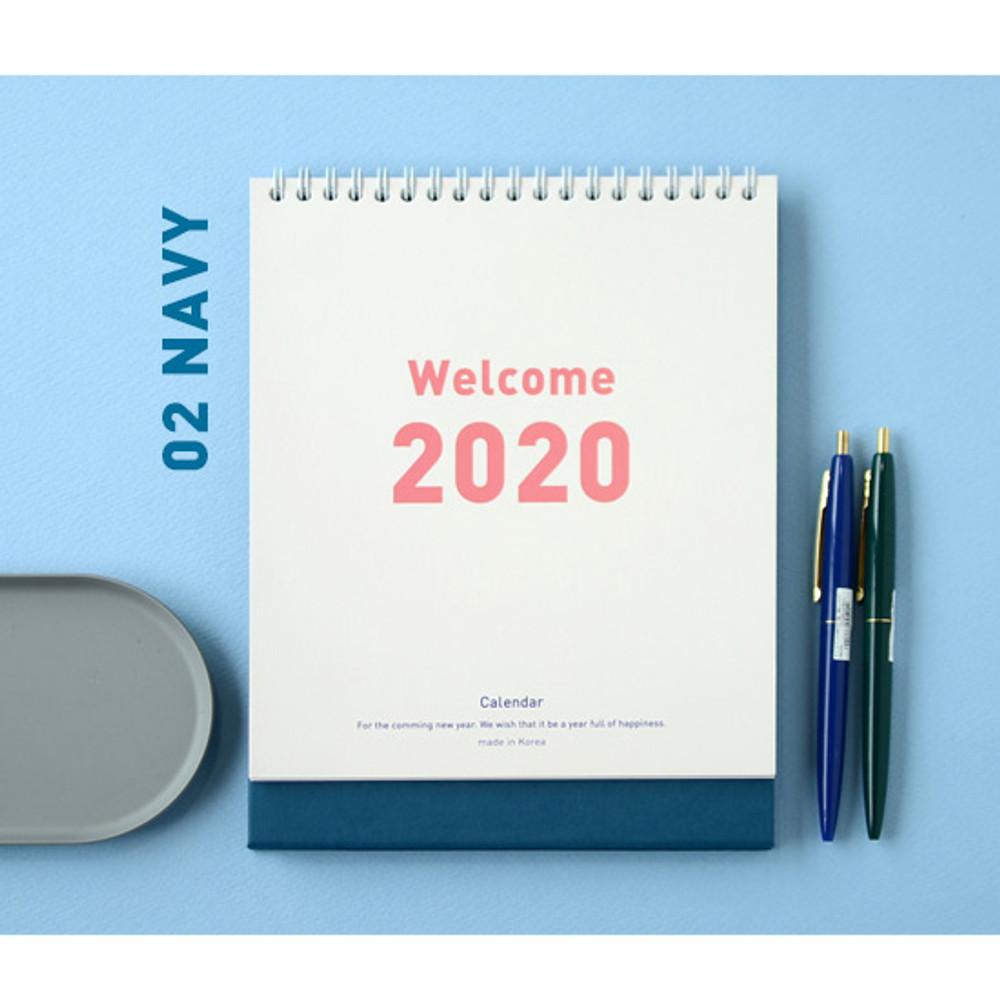 Navy - Jam studio 2020 Welcome standing desk flip calendar