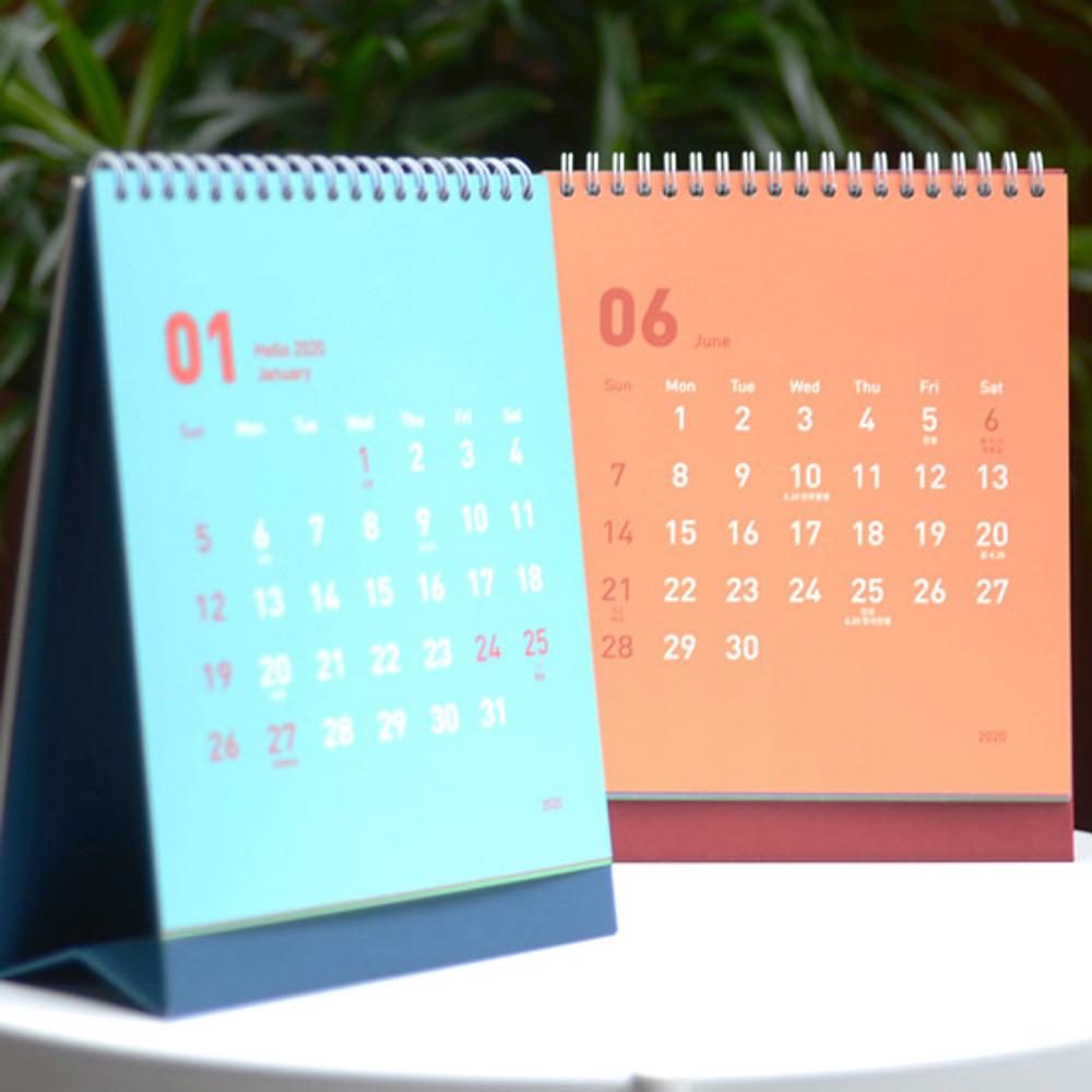 Jam studio 2020 Welcome standing desk flip calendar