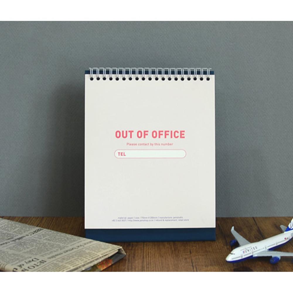 Absence page - Jam studio 2020 Welcome standing desk flip calendar