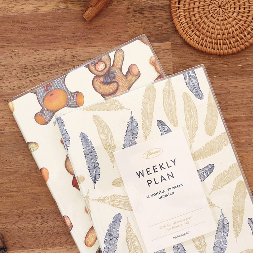 PAPERIAN Florence dateless weekly diary agenda planner